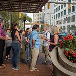 Strolling along Euclid Ave on our Downtown Highlights Walking Tour