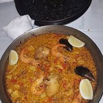 Paella and black rice