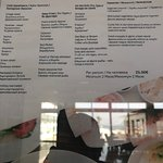 Список блюд в Мезе рыбном, ресторан Vassos