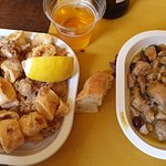 Pollo alla ligure e frittura di calamari