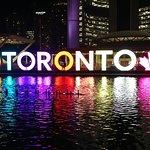 Iconic Toronto Sign at night