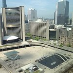 """Picture of the """"New City Hall"""" taken from our room on the 24th floor"""