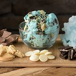 Cotton Candy Ice Cream with Oreos, Milk and White Chocolate.