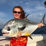 Big permit on today's deep sea fishing charter for this young angler.