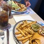 California chicken wrap and Burger