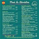 Menú de verano 2019 Restaurante La Récréation