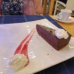 Chocolate cake and Espresso