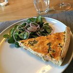 Quiche and salad at Martine's Table
