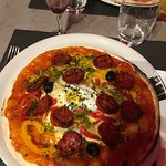 Pizza andalouse au chorizo