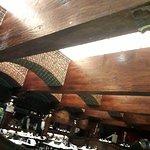 Me sorprendieron las vigas, la hermosa estructura en madera