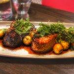 Pork share plate between two at El Matador - absolutely super tender pork.