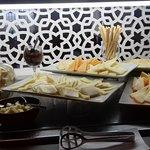 Petit exemple du buffet  qui changeait chaque jour  Beaucoup d innovation  et de bon goût