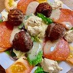 Falafel & Salami Salad