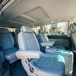 Mercedes Benz Viano, 6+ 1 seats (2+2+3 seats interior view)