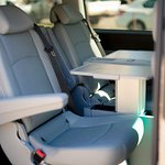 Mercedes Benz Viano, 6+ 1 seats (middle seats, 2 chairs + working table)