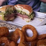 Dirty Sanchez with onion rings