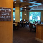 Mangroves Grill inside hotel. Variety of soups, salads, cuban-style food, burger, chicken, steak, mixed drinks, etc.