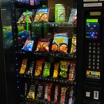 Well-stocked snack machine. Beverage machine also available.
