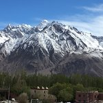 View of the end of there Hindu Kush range from the Stone Fort in Tashkurgan