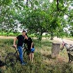 apreo break under the walnut tree in the middle of wineyards...