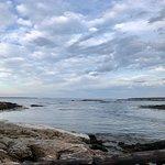 Rocky shoreline at Reid State Park.