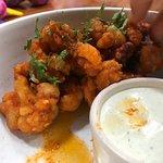 Buffalo Cauliflower with the best homemade ranch... mmmm