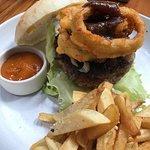 Burger & fries- the kind way.