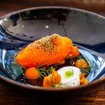Carrot inspired dish.