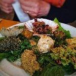 The vegetarian meze platter