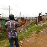 Photo of the railway in Kibera, during the Walking Tour