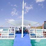Island hopping aboard Keelooma's boat