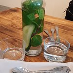 Staying hydrated for the Summer....these guys make it Easy and Inviting.  Mint/Cucumber water