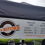 What's on offer, there are some sauces listed at the other end, piri piri, garlic mayo and about 10 others!