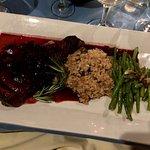 Rib eye steak, porcini mushroom risotto & string beans