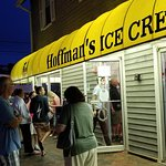 Outside at Hoffman's Ice Cream Stand in Silver Lake, NJ.