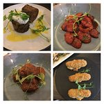 Selection of meat tapas dishes