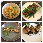 Selection of vegetarian tapas dishes