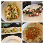 Selection of tapas dishes.