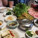Porc à faire griller, tofu mariné