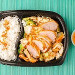 Fried duck with vegetables and jasmine rice
