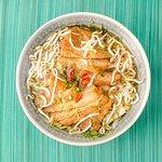 Fried soya slides Pho soup