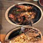 Sizzling Shrimps and lobster