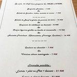 Carte du menu du dîner et carte des vins.