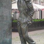 Bulat Okudzhava Statue, Arbat, Moskau, Russland
