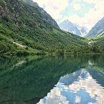 Третье и самое большое из Бадукских озёр. Максимальная глубина — 8,7 м. Температура воды — около 7 градусов по Цельсию.