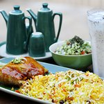 sweet rice with chicken