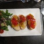 BRUSCHETTA CON PEPERONI SALTATI Toasted ciabatta, sauteed mixed peppers, mixed herbs.