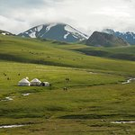 Solton-Sary valley. The land of Nomads. Kyrgyzstan