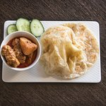 Roti Canai with Curry Chicken