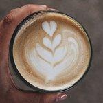 flat white. kava latte art
